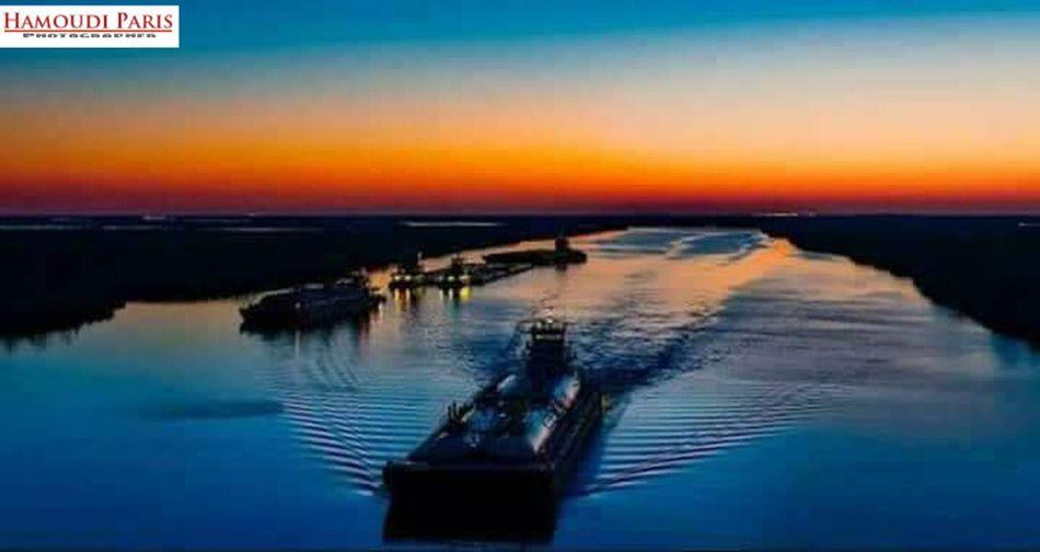نهر دجله عدستي_عيني_الثالثة Sunset Water Reflection Outdoors Sea No People Sky Night Nature Nautical Vessel Beauty In Nature