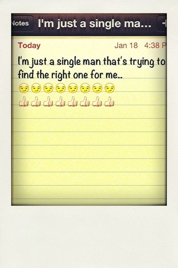 Single And Being Real