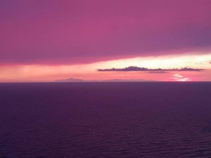 tramonto isola d'elba Isola D'Elba  Purple Panoramic View Vista Panorámica Tramonto Tramontosulmare Tuscany Toscana Italy Tramonti_italiani Sea Sunset Sky Horizon Over Water Romantic Sky