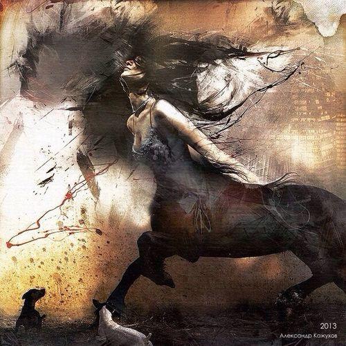 Art Babe Horse Fantasy