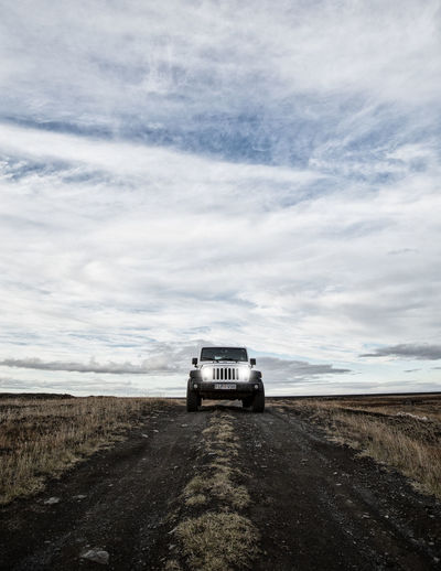 Jeep Wranlger in Iceland 4x4 Cloud Iceland Iceland Memories Jeep Life Adventure Cloud - Sky Day Iceland_collection Jeep Jeep Wrangler  Land Vehicle Landscape Nature No People Off-road Vehicle Outdoors Road Sky Transportation