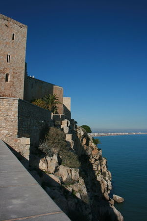 This sea side town is MUST SEE in Spain - Peñiscola. Architecture Blue Clear Sky History Old Buildings Peñíscola Sea Sea And Sky Sea Side Sea Side Town Sea View Sky Travel Destinations Travel