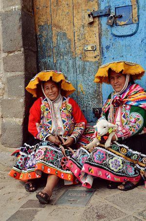 Inca Ladies in Cusco Peru Inca Ancient Civilization Women Traditional Clothing Cultures Looking At Camera Tradition