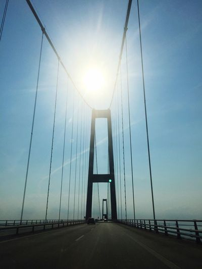 Sky Sun Sunlight Built Structure Nature Sea Architecture Bridge - Man Made Structure Bridge Suspension Bridge Transportation Connection Safety Day Land Horizon Over Water No People Water Beach Outdoors