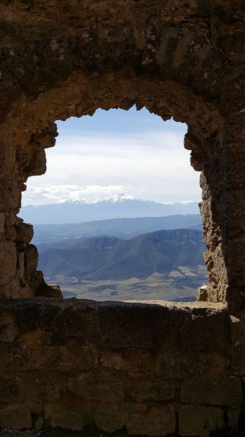 Mountain Landscape Window No People Sky Nature Beauty In Nature Day Outdoors Water