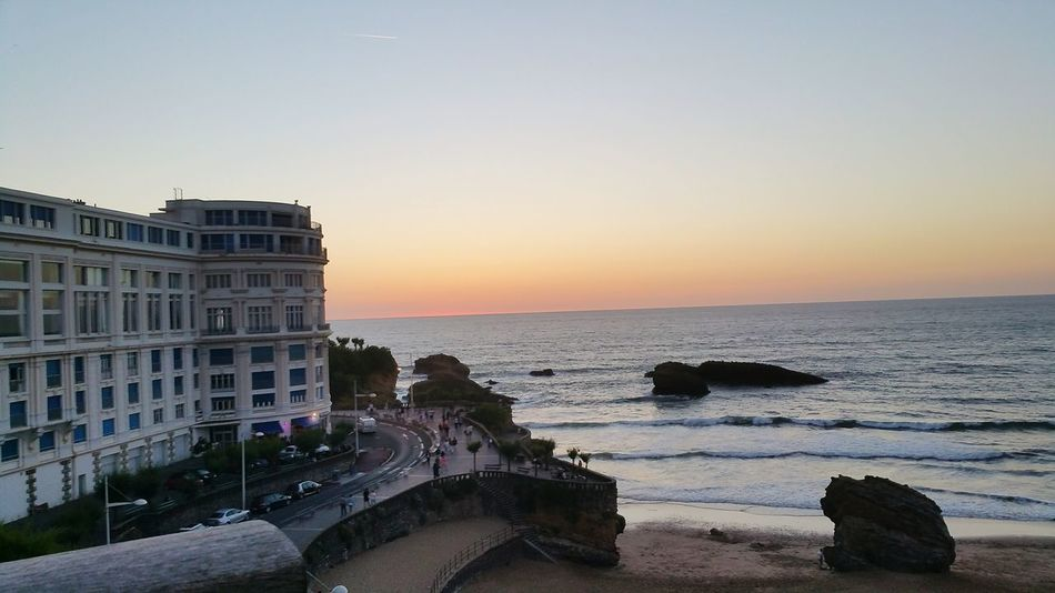 In my own little world... France Biarritz Beach Sunset Peaceful Place Peace And Quiet Amazing View