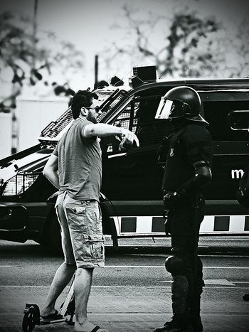 Mossos Scooter Black And White The Street Photographer - 2014 EyeEm Awards