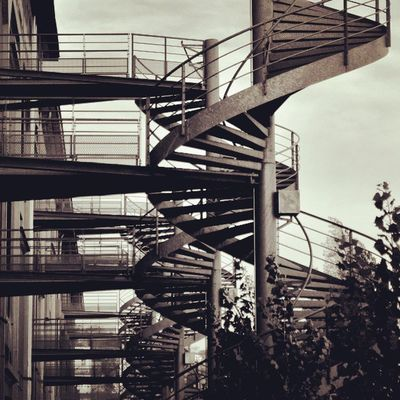 Lyon Stairs Architecture Blackandwhite