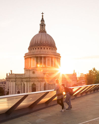Postcode Postcards Dome Travel Destinations Architecture Sunset Travel City Government Politics And Government Built Structure People Outdoors One Person Day Adult Sky Adults Only London