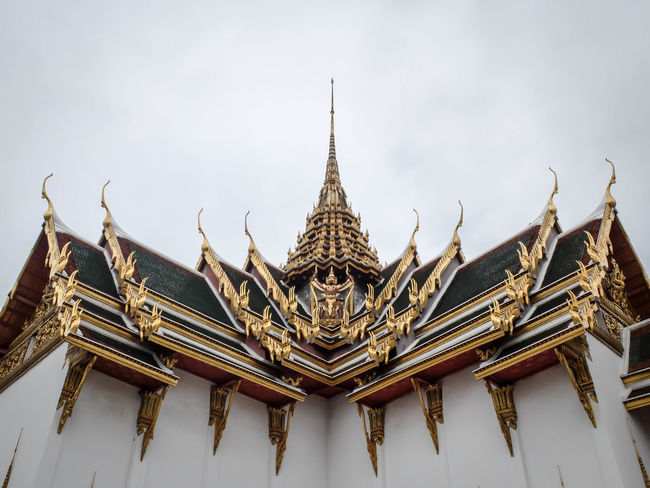 Architectural Feature Architecture Asian Culture Built Structure Grand Palace Bangkok Thailand Religion Tradition Traditional