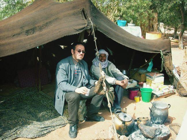 That's Me having tea in a tent, in the Sahara , Ouargla ( Algeria )