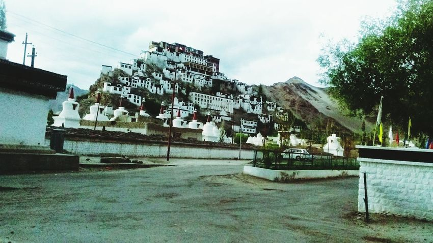 Leh Monastery Hillside Traveling
