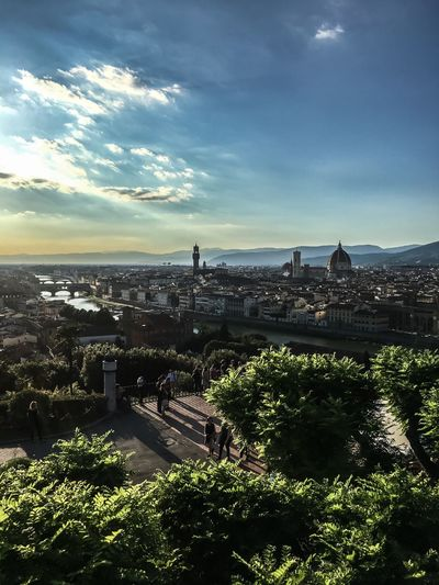 Italy Florence Cityscape Architecture Built Structure Cloud - Sky High Angle View Building Exterior Outdoors Sky Travel Destinations No People City Nature River View Travel Photography