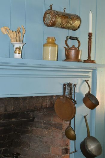 Kitchen Utensils On Mantle At Home