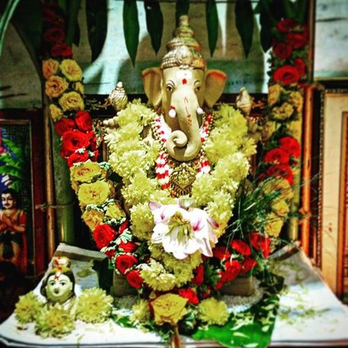"""The God is only as powerful as the man who worships him!"" HappyGanesha Ganapatibappamorya Festivals Family Friends Ecofriendly ! FeelsGood Instaganesh Akrfoto"