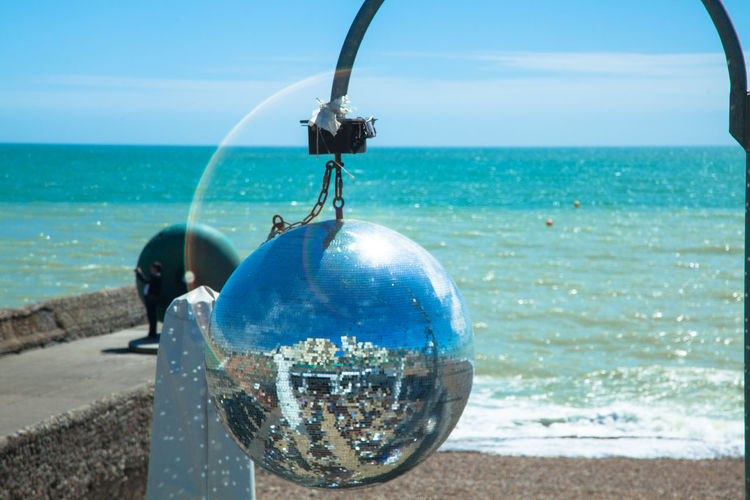 Beach Beach Club Brighton Disco Discoball Light Ocean Pier Reflection Ring Sea Sea And Sky Shiny