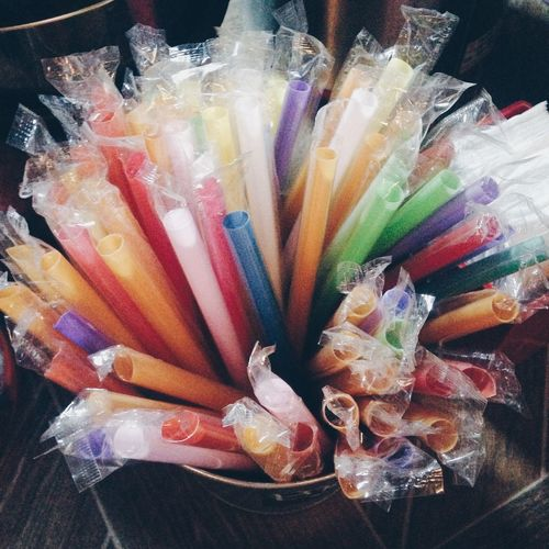 I just had to! Very cute, colorful straws. 😍