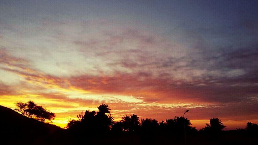 Sky And Clods Beautiful Sky Sky_collection Beautiful Desert Beauty Sunrise Good Morning World! Desert Adrar Algeria