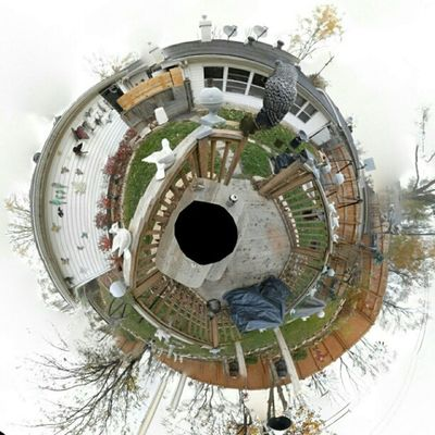 My first REAL 360x180 planet panorama. It's comprised up of 105 seperate shots. The black center is from where my tripod was. Panorama Planet 360x180 Globe instashots circle planetpanorma photooftheday instagram