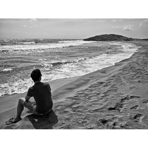 Donde muere tu poesía / Where your poetry dies Guy Blancoynegro Blackandwhite Mar Sea Calblanque Cartagena Murcia Olas Waves