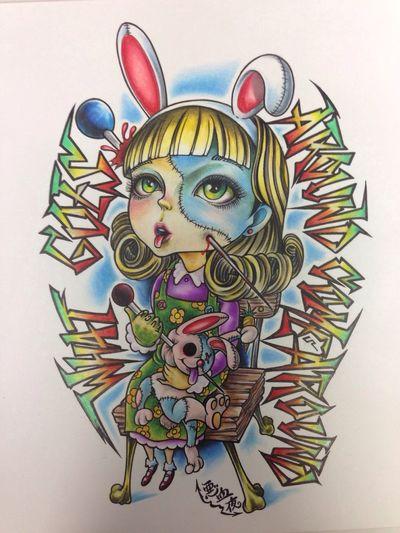 因果応報 Tattoo Thunder Alley Art