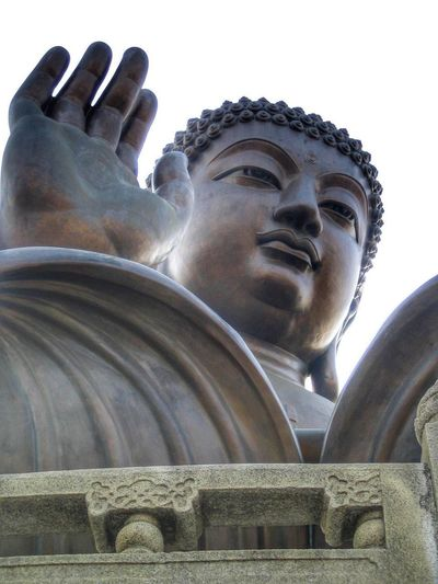 Statue Sculpture Human Representation Male Likeness Religion Spirituality Art And Craft Low Angle View Outdoors Day Close-up Buddha Giant Figure Glaube Und Religion Hand