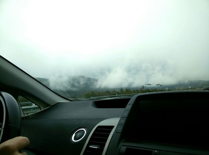 Somedays just need a break outside How's The Weather Today? Foggy Mountain Driving