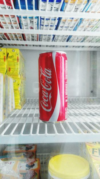 Hi! Taking Photos with Xiaomi RedmiNote Coca Cola Check This Out in Refrigerator Phone Photography Today :) Morning