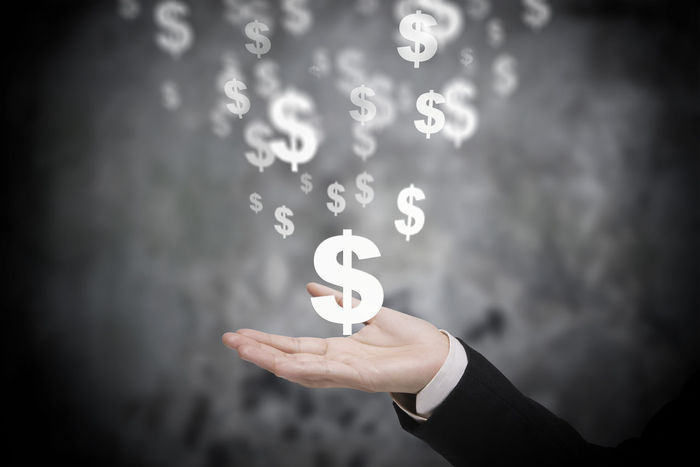 executive hand and virtual dollar symbol Currency USD Virtual Analysis Business Finance And Industry Dollar Executive  Global Holding Human Hand Interface Investment Manipulate Money Number Sell Showing Strategy Symbol Wealth