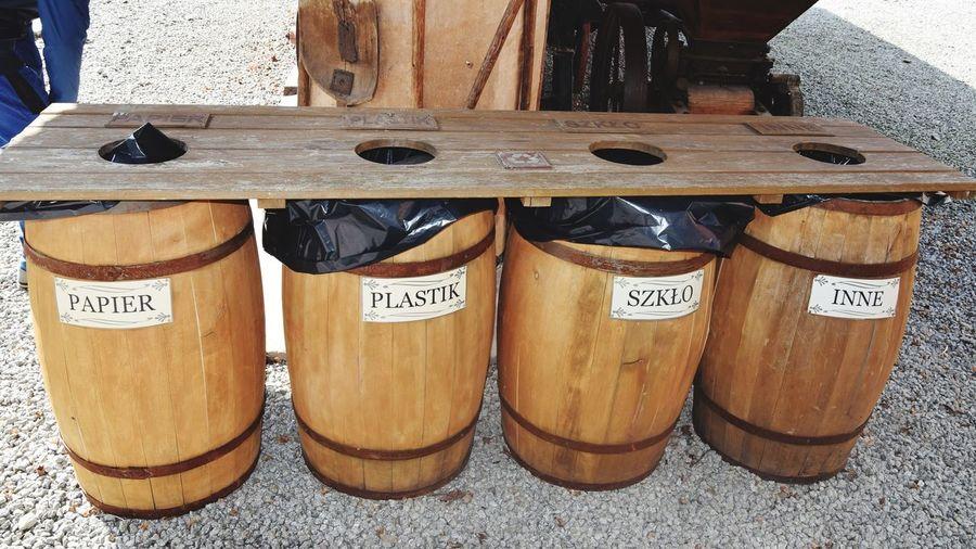 Eco - friendly Barrels Environment Habitat Foil  Eco Ecology Classification Segregation  Rubbish Wood - Material EyeEmNewHere
