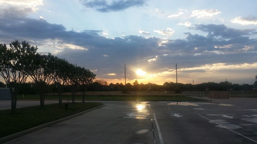 """""""NtenseShine"""" Tree Reflection Sunset Cloud - Sky No People Day Sky Water Outdoors NTENSElifestyle NTENSEdesignz First Eyeem Photo Beauty In Nature Images Houston Texas Houston Heaven Dramatic Sky Cloudscape City Of Houston"""