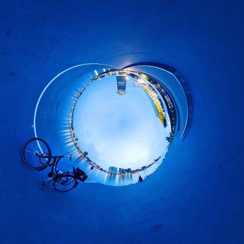 EyeEm Selects Eyefilmmuseum Amsterdam Amsterdamlife Bike Bicycle Bluehour Blue