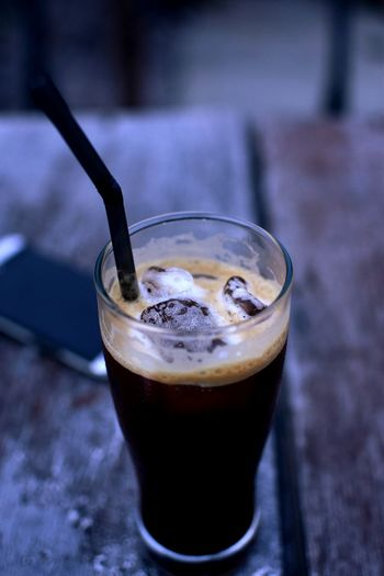 Coffee Drink Drinking Glass Refreshment Freshness No People Close-up Healthy Eating Outdoors Cold Temperature Day