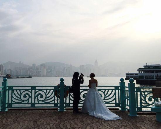 Hong Kong Wedding Bride Photographer Harbour