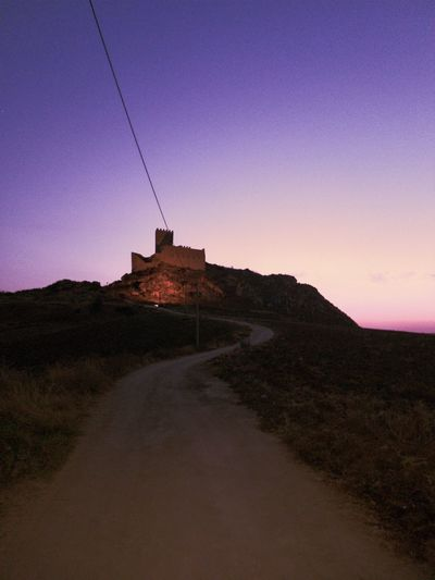 Lost In The Landscape Architecture No People Sand Dune Sunset Sky Night Outdoors Tranquility Clear Sky Blue Schloss Sicily Sicilia Sicilyphotography Sicilysummer