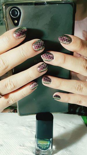 Mynails Nail Art Nailpolish Popular OpenEdit Fishscales  Snakeskins EyeEmArt