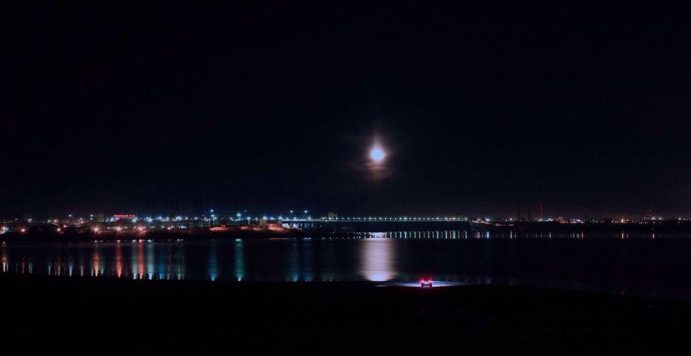 The Drive Night Water Illuminated Outdoors Sky City First Eyeem Photo