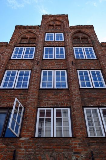 Architectural Detail Street Photography Architectural Feature Wall And Window Wall Houses And Windows Building Exterior Historical Building Stone Wall Building Historical Eyeem Architecture Old Buildings Windows Old Town From My Point Of View Stone House Architecture Window In A Building Windows_aroundtheworld Lübeck Germany Window Hello World Open Window