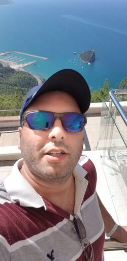 Selfie From Uptop for My Love Carol Selfie ✌ 700 Meter High Up Top Water Portrait Looking At Camera Smiling Headshot Men Sunglasses Front View Sky Close-up Horizon Over Water Shore Calm Rushing Ocean Seascape