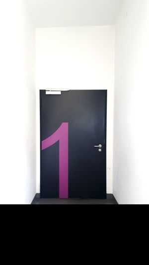 EyeEm Selects Door Closed Door Closed White Pink Black White Background One Number Number One Number One Fan Architecture Close-up Built Structure Doorknob Entry Locked