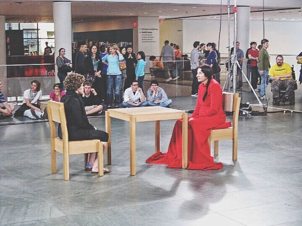 Found photo.... I watched Marina Abramović for an hour! Metropolitan Museum Of Art MetropolitanMuseumofArt Manhattan New York City New York NYC Museum Moma Moma N.Y. Mesmerized Mesmerizing Fascinating Staring Contest Performance Art Marina Abramović