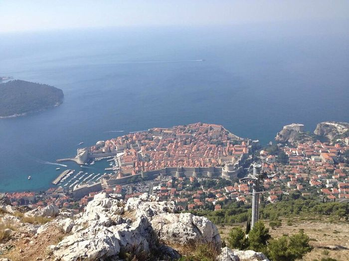High Angle View Cityscape Building Exterior Architecture Crowded Sea City Dubrovnik Croatia Residential District Built Structure Aerial View Water Residential Building Outdoors Mountain Scenics Day Nature Sky Scenic Lookout Beauty In Nature Flying High Neighborhood Map