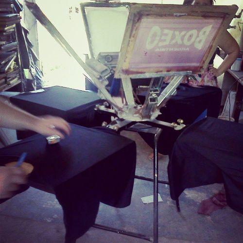 En el taller de Serigrafia