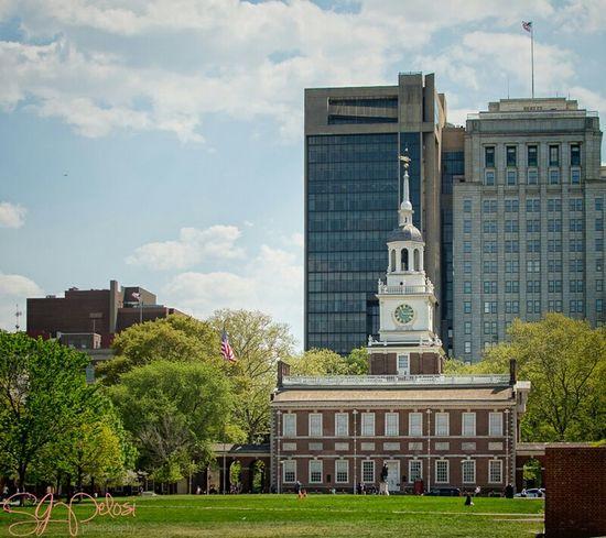 Philadelphia Independence Hall Independence Mall Sunshine Blue Sky Pennsylvania Sjpelosi Photography