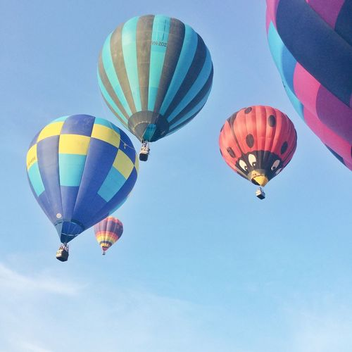 Eyeem Philippines Hotairballoon Flying Hot Air Balloon Transportation Multi Colored Mid-air Adventure Low Angle View Day Air Vehicle Ballooning Festival Variation Outdoors No People Sky Parachute Lubaoibf2016 Hotairballoons