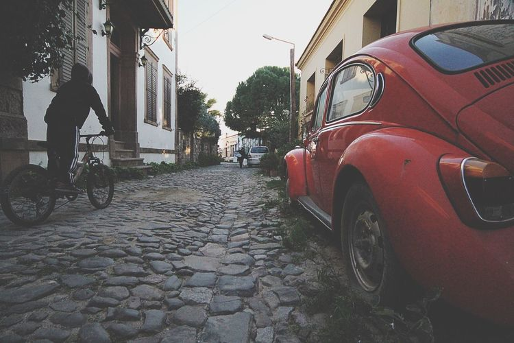Stories From The City VW Beetle Bicycle Pastel Power Cunda Pavedstreet Paved Road Pavedstreets Cunda Island Turkey Türkiye Celebrate Your Ride MeinAutomoment EyeEm Selects