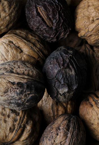 Walnuts with shells texture