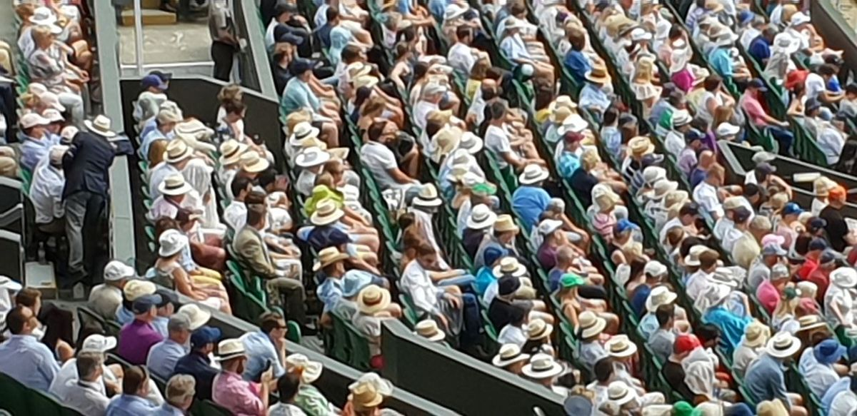 Crowd at tennis Tennis 🎾 Wimbledon Business Finance And Industry Close-up