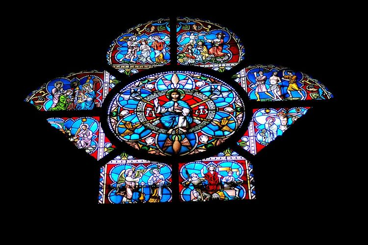 Multi Colored Stained Glass Window Church Religion Spirituality Architecture Place Of Worship Built Structure Cathedral Glass - Material Dark Colorful Arch Repetition Lit Arched Tranquil Scene Tranquility