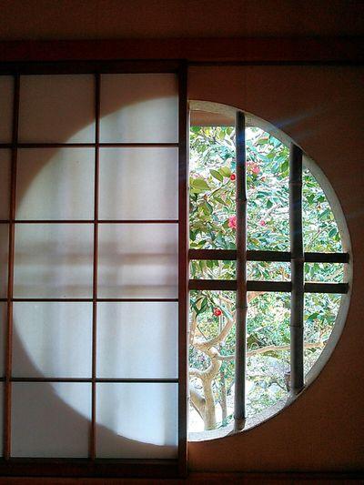 円窓。円相。世界は円環の理の裡に在る。 京都 Kyoto 窓 Window 円窓 円相 円環の理 Circle Round 障子 日本家屋 Japanese House 庭 Garden